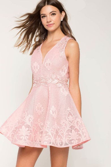 Aliah Lace Flare Dress from A'gaci