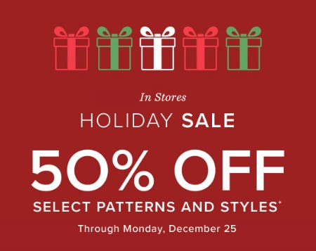 50% Off Holiday Sale