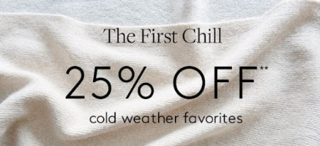 25% Off Cold Weather Accessories from Club Monaco