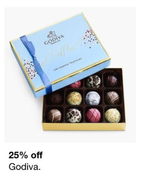 25% Off Godiva from macy's