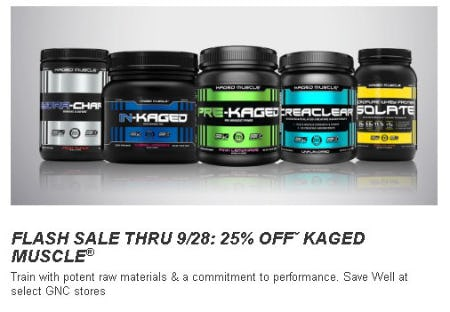 25% Off Kaged Muscle