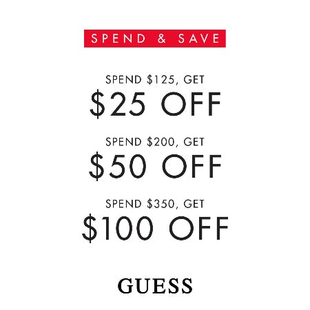 GUESS Spend and Save
