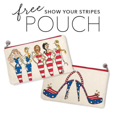 FREE Show Your Stripes Pouch from Brighton Collectibles
