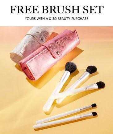 Free Brush Set with a $150 Beauty Purchase from Neiman Marcus