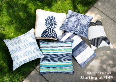 Outdoor Pillows Starting at $14.99 from Kirkland's Home