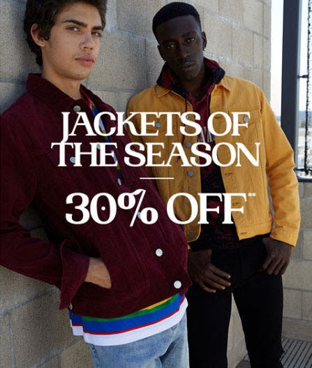Jackets of the Season 30% Off