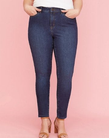 Ultimate Stretch Skinny Jean - Dark Wash from Lane Bryant