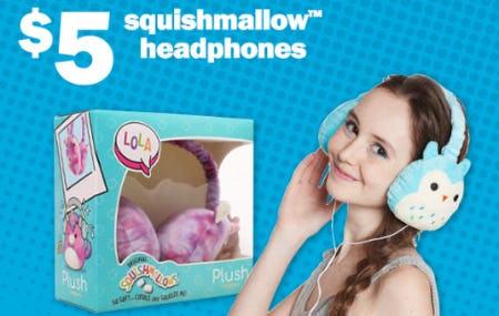 $5 Squishmallows Headphones from Five Below