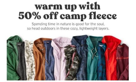 50% Off Camp Fleece from Eddie Bauer