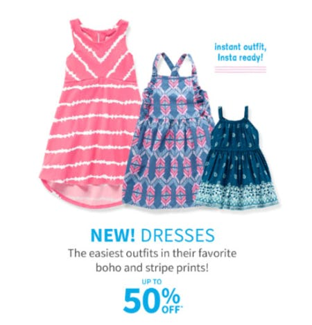 Up to 50% Off Dresses from Carter's Oshkosh