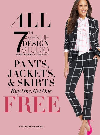 All 7th Avenue Pants, Jackets & Skirts Buy One, Get One Free from New York & Company