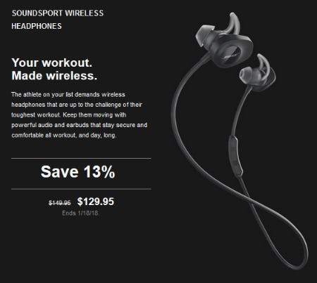 Save 13% on SoundSport Wireless Headphones