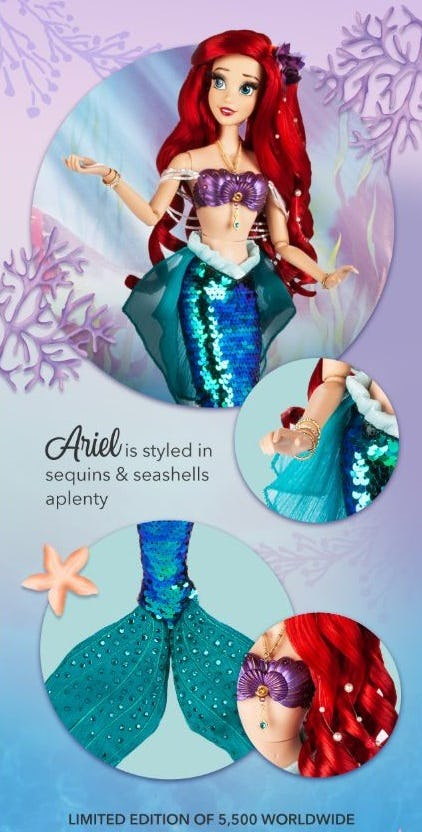New Limited-Edition Little Mermaid Doll from Disney Store