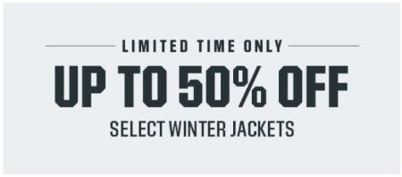 Up to 50% Off Select Winter Jackets from Dick's Sporting Goods