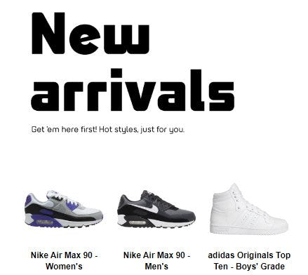 Shop New Arrivals from Foot Locker