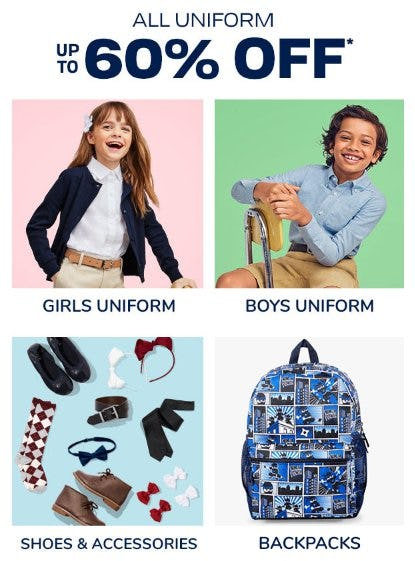 All Uniform up to 60% Off from The Children's Place Gymboree