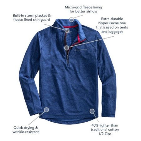The New Sankaty 1/2 Zip from vineyard vines