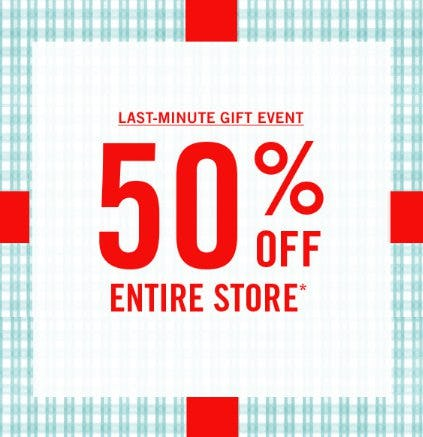50% Off Entire Store from Abercrombie & Fitch