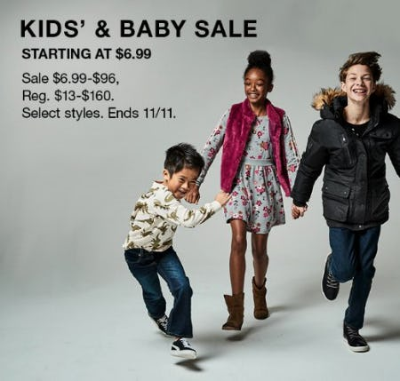 Kids & Baby Sale Starting at $6.99 from macy's