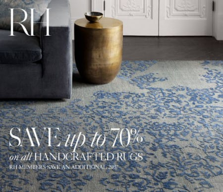Up to 70% Off All Handcrafted Rugs from Restoration Hardware