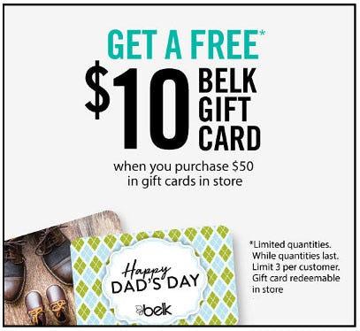 Get A Free $10 Belk Gift Card from Belk