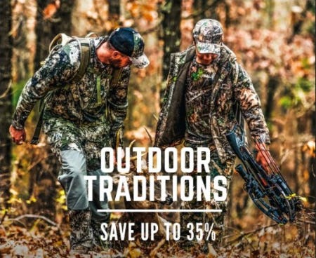 Up to 35% Off Outdoor Traditions from Cabela's