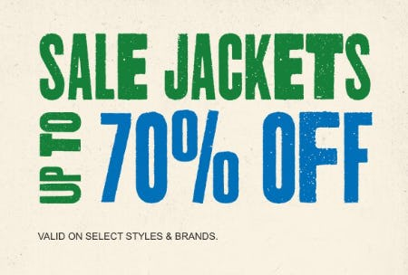 Sale Jackets: Up to 70% Off