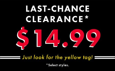 Last-Chance Clearance: $14.99 on Select Styles from DSW Shoes