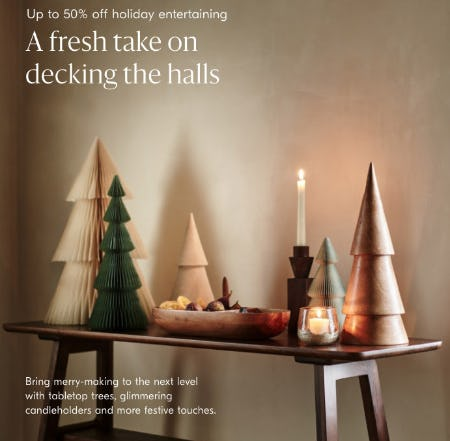 Up to 50% Off Holiday Entertaining from West Elm