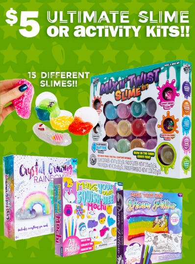 Ultimate Slime or Activity Kits at Only $5