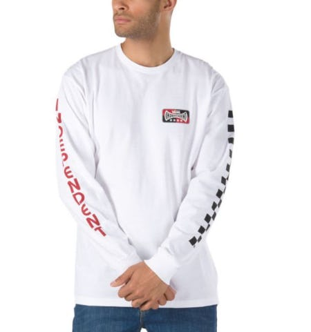 Vans X Independent Checkerboard Long Sleeve T-Shirt from Vans