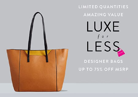 Designer Bags Up to 75% Off MSRP from Ashley Stewart