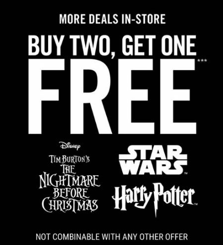 B2G1 Free The Nightmare Before Christmas & More