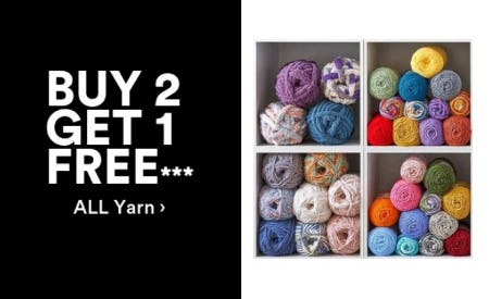 B2G1 Free All Yarn from Michaels