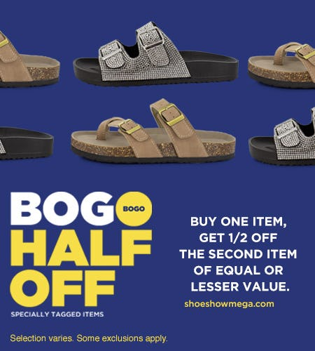 Specially tagged items, Buy 1 – Get 2nd pair ½ off!