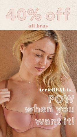 40% Off All Bras from Aerie