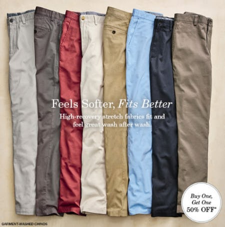 BOGO 50% Off Pants from JOHNSTON & MURPHY