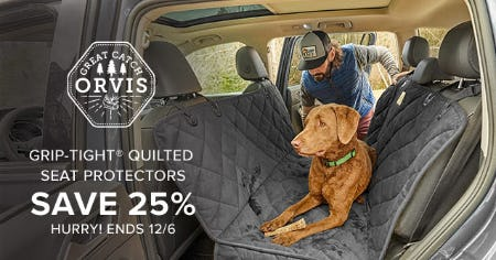 Save 25% Grip-Tight Quilted Seat Protectors from Orvis
