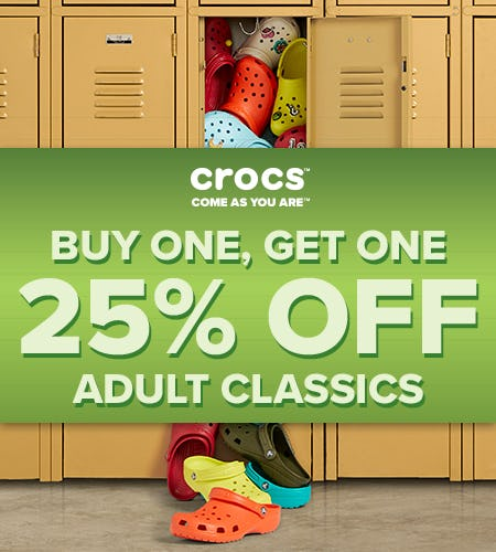 Adult Classic Clogs Buy One, Get One 25% Off!