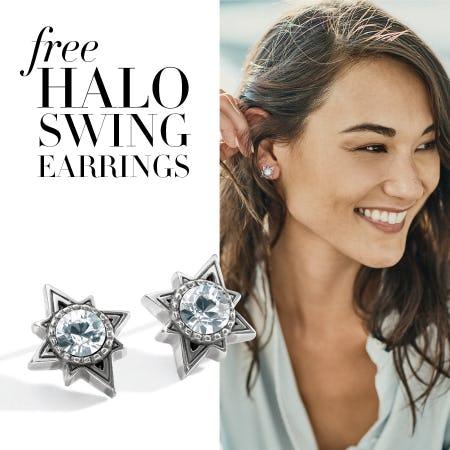 FREE Brighton Halo Swing Earrings