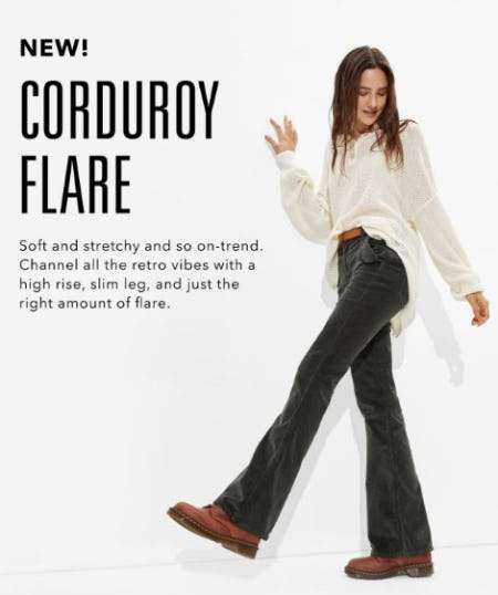 Just Dropped: New Corduroy Flare from American Eagle Outfitters