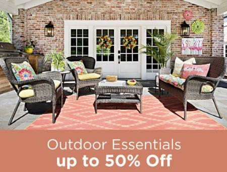 Outdoor Essentials up to 50% Off from Kirkland's Home