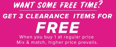 Get 3 Clearance Items for Free from New York & Company
