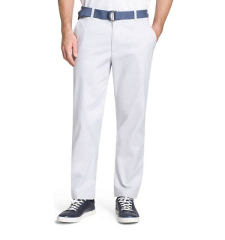 IZOD Belted Oxford Pants from Belk