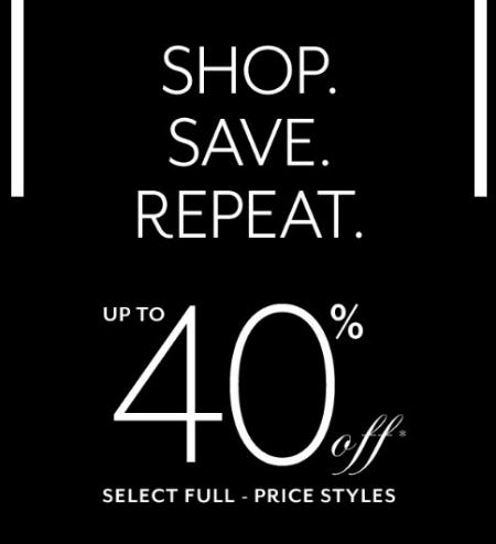 Up to 40% Off Select Full-Price Styles