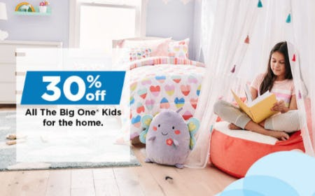 30% Off All The Big One Kids for the Home from Kohl's