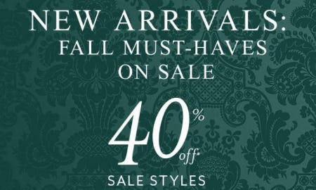 40% Off Sale Styles from White House Black Market