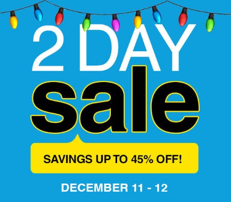 2 Day Sale: Savings Up to 45% Off