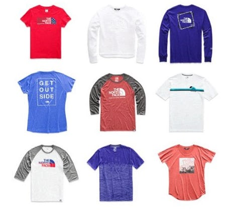 Comfy Tees for Summer from The North Face