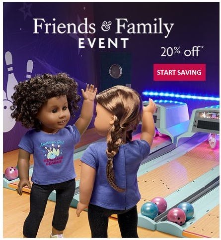 20% Off your Purchase from American Girl